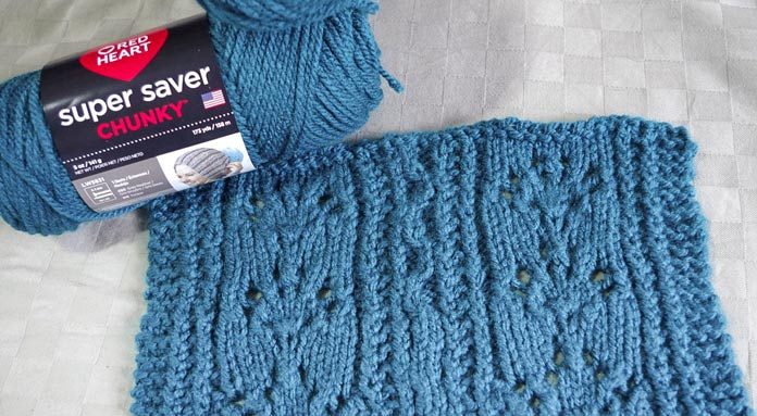 This teal color of Red Heart Super Saver Chunky is one of 19 brilliant options.