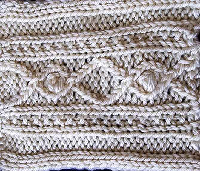 Bobbles and Braids textured knit stitches