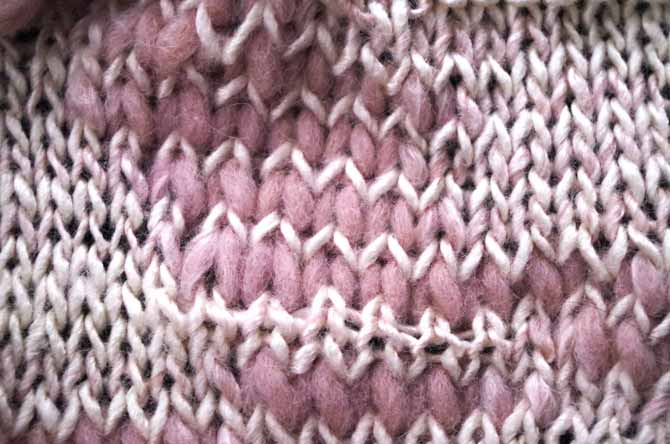 Right side stockinette on size 6.5mm needles