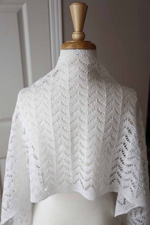 The Wedding Stole by Cynthia MacDougall elegantly made using Universal Yarns Flax Lace