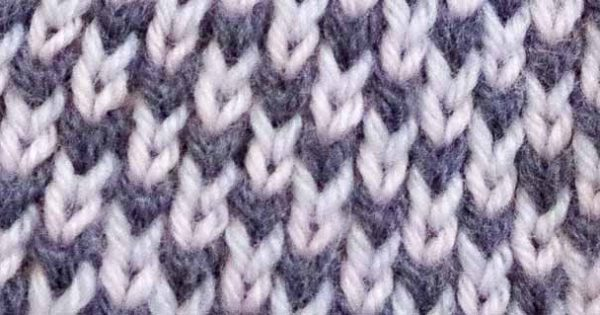 What happens when you knit in the stitch below?