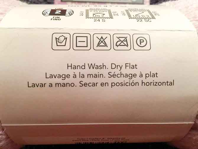 Hand wash only and all those cryptic laundry symbols
