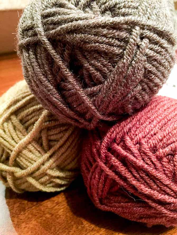 Just pick a color and start your sweater using Branson yarn