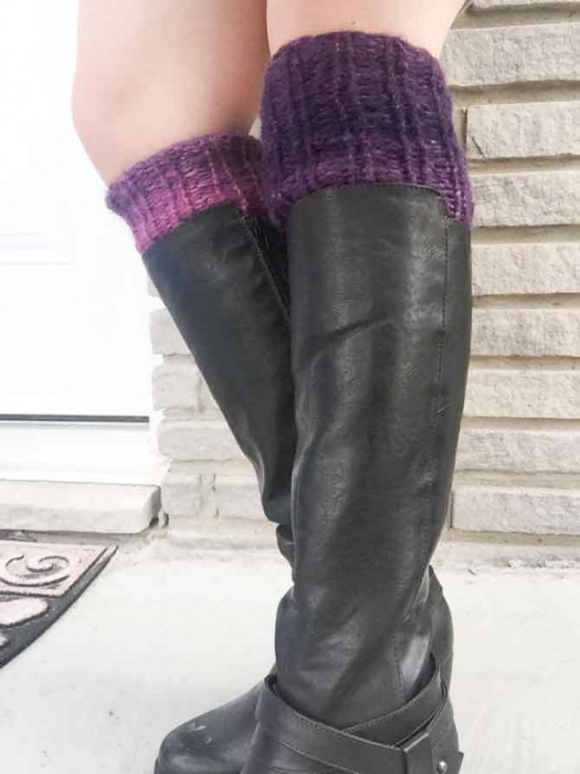 I love these leg warmers in this moody color!
