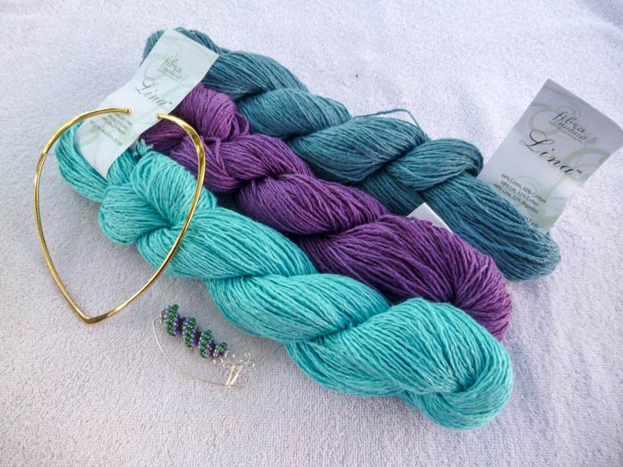 Summertime with Fibra Natura Lina yarn