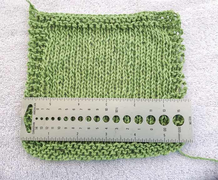 You can achieve gauge without knitting tightly