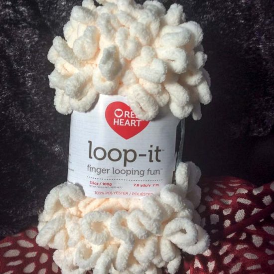 I sampled Loop-it in the Ice Ice Cream colorway. I love that it has a hint of color in its whiteness!