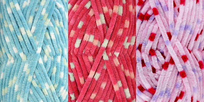 Colorway names (from left to right) Tidal Wave, Candy Store, Sweetness