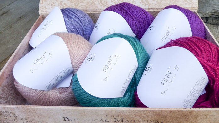 A lovely box of Finn yarn, ready for me to explore