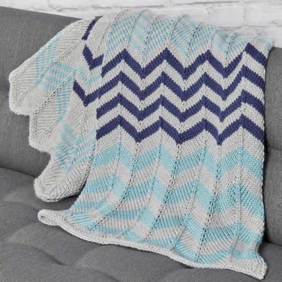 The Relaxing Ripple Throw pattern photo.