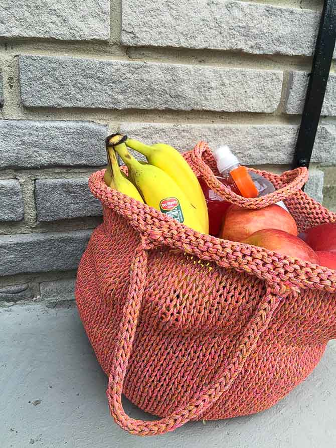 Re-usable Shopping Bag in color Neon