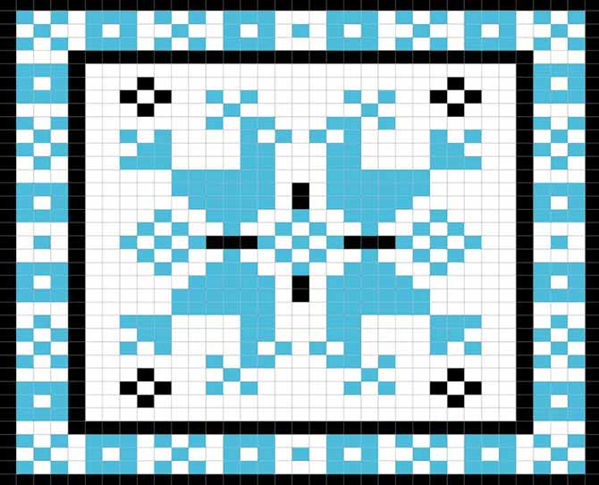 Nordic Rooster fair isle chart