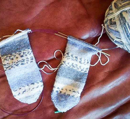 Knitting two socks at once with circular needles