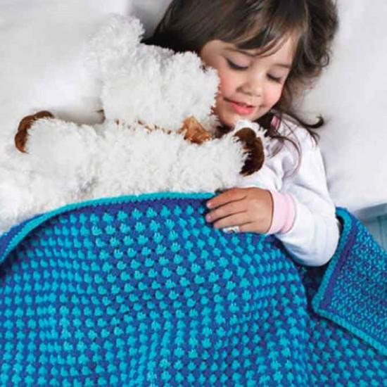 Red Heart's Toddler Blanket Pattern