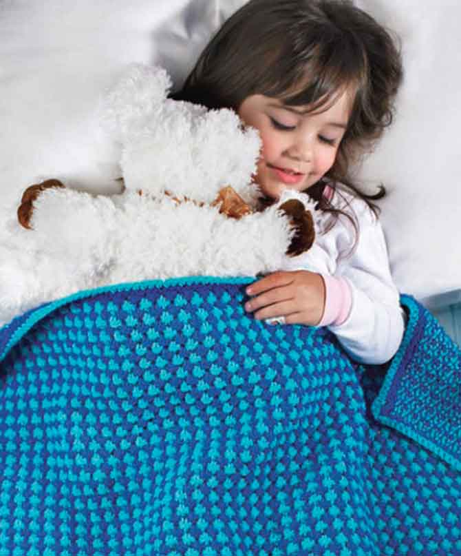 Red Heart's Toddler Blanket Pattern