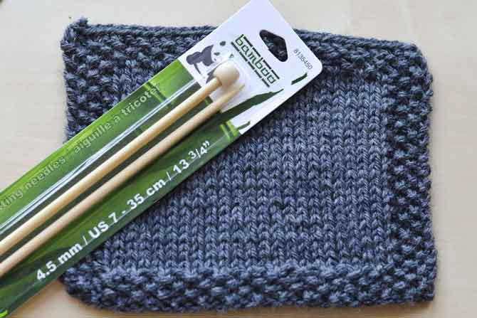 Neaten up your edges with some knitting basics