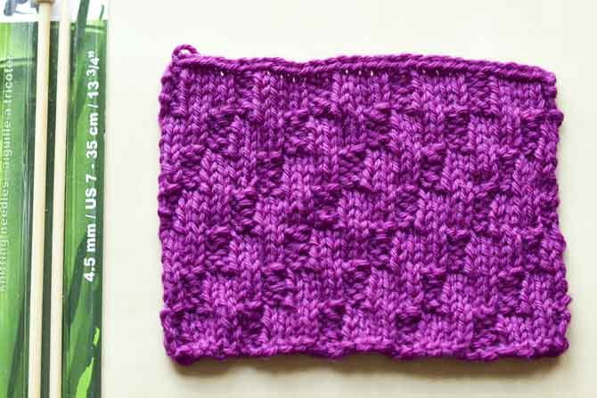 This diagonal stitch helps you practice a more complicated pattern.