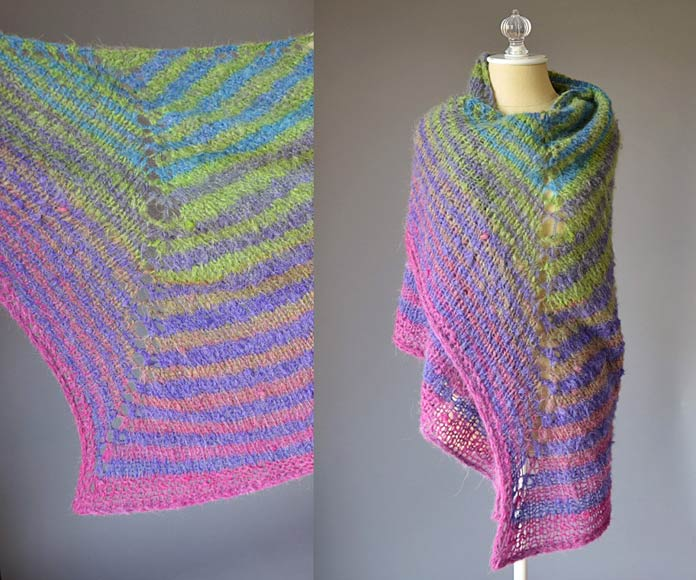 The various directions of stitches and the ease of knitting the stripes from the same ball, make this Revolutions free pattern a perfect project for a beginner.