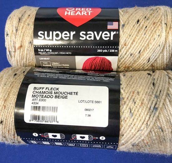A new Super Saver yarn! This one is called Buff Fleck.