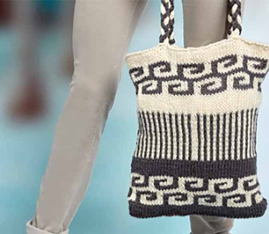 Take your market bag from drab to fab with the Swirls and Stripes Mosaic Bag, it's a free pattern from Red Heart using their great self striping yarn Super Save Stripes!