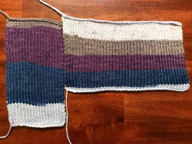 Knowing how your self-striping yarn will turn out before you start you project can be a real life-saver. With Love Stripes showing the difference between knitting with 20 stitches and knitting with 40 stitches.