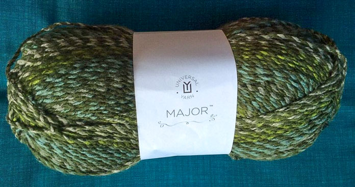 High contrast between the two plies throughout this skein of the Verdant colorway, offer an excellent example of a marled yarn.