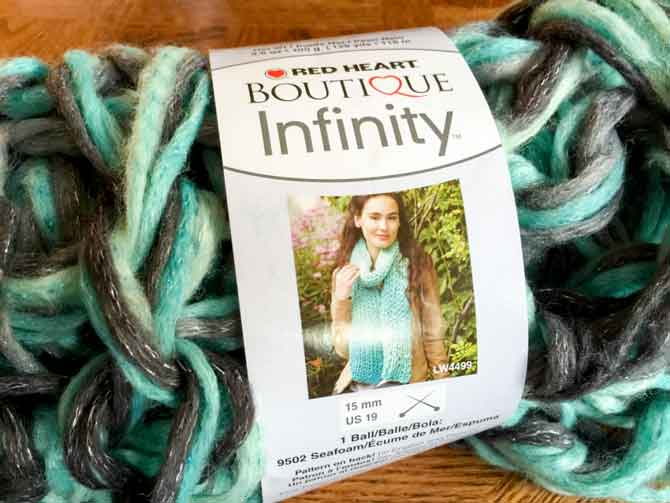 Red Heart Boutique yarn Infinity